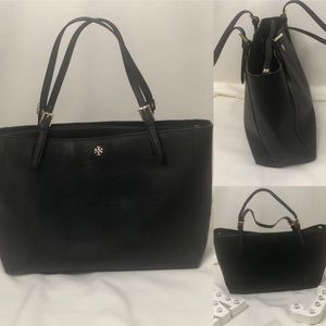 Large Leather Tory Burch Tote Bag